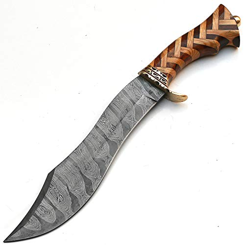 PAL 2000 KNIVES  4 Custom Handmade Damascus Steel Hunting Bowie Knife -Sword/Chef Kitchen Knife/Dagger/Full Tang/Skinner/Axe/Billet/Cleaver/Bar/Folding Knife/Kukri/knives accessories/survival/Camping With Sheath 9181