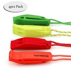 RAYVENGE  1 RAYVENGE Safety Whistle with Lanyard for Boating Hiking Kayak Emergency Survival Life Vest Rescue Signaling