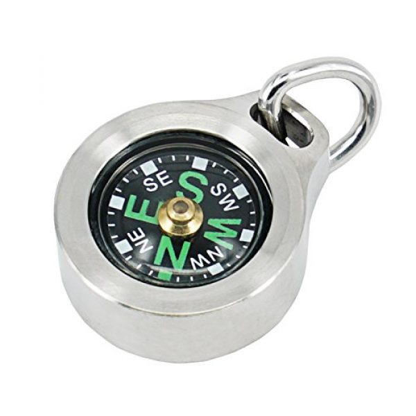 MecArmy Survival Compass 1 MecArmy CMP Titanium/Brass EDC Compass, Teardrop Shaped Design with Exquisite engrave, Fluorescence Glow in The Dark Max runtime of 6 Hours IPX5 Waterproof Free Beaded Chain Worn as Pendant
