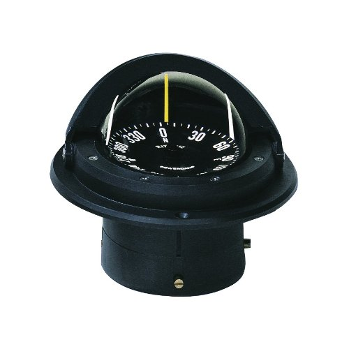 Ritchie Navigation Survival Compass 1 Ritchie Voyager Compass Flat-Card Dial with Flush Mount and 12V Green Night Light (Black, 3-Inch)