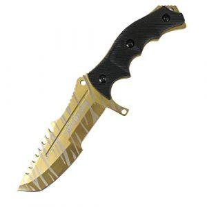 HUNT-DOWN  1 HUNT-DOWN New Mini CSGO Huntsman Fixed Blade Hunting Knife Bowie Survival CS:GO Combat