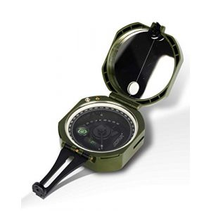 AOFAR Survival Compass 1 AOFAR AF-M2-B Military Compass Lensatic Sighting-Multifunctional, Fluorescent, Waterproof and Shakeproof with Inclinometer and Carrying Bag for Camping, Hiking, Hunting