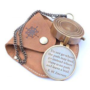 RIRHTAJUS Survival Compass 1 RIRHTAJUS Engraved Directional Compass for Boys, Graduating Students, Birthday boy, Get Well Soon Gifts