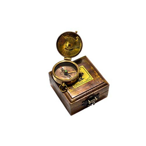Sailor's Art Survival Compass 1 Sailor's Art Antique Handcrafted Brass Compass-Camping Travelling Equipment-Perfect Sailor Gifts-Direction Pocket Compass-Vintage Home D©cor Item-Gifts for Friends Family Children