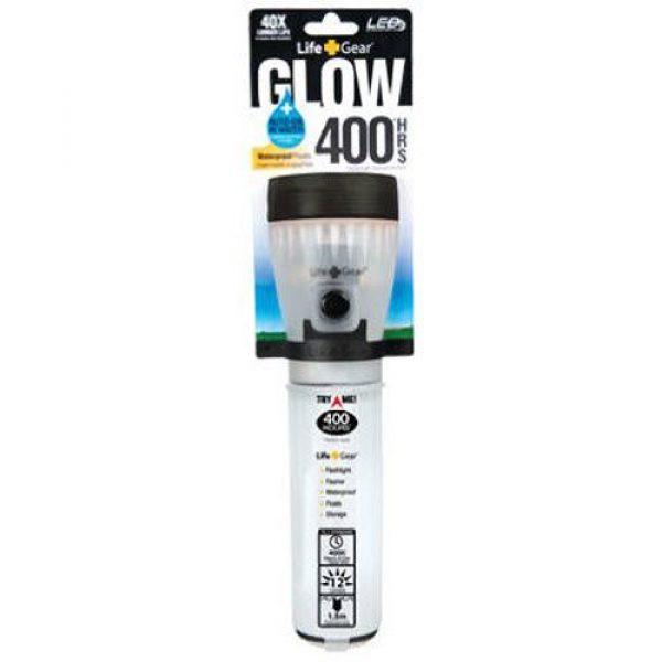 Life Gear Survival Flashlight 1 Life Gear Mini LED Flashlight with Glow Handle, Red Body