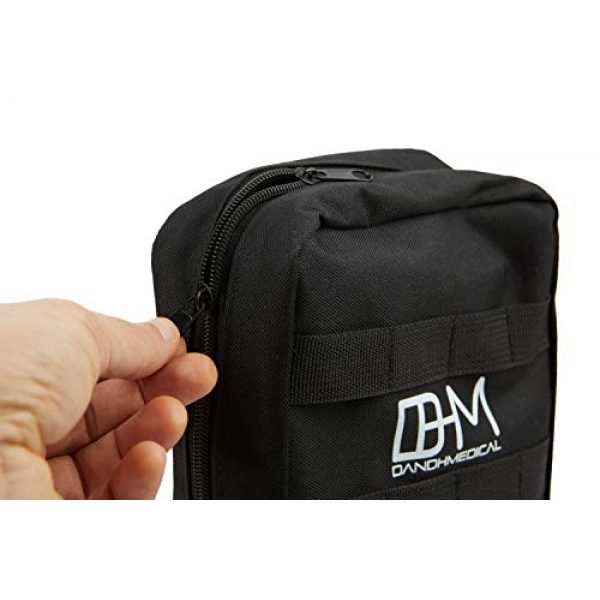 D AND H MEDICAL First Aid Kit 7 D & H Medical Survival (IFAK) Trauma First Aid Kit for Emergencies. Includes Combat Action Tourniquet (CAT) and Much More. Great for Outdoor Gear for Camping Hiking Hunting Travel Car Adventures.
