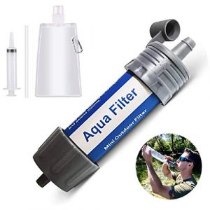 Aqua Filters Survival Water Filter 1 Portable Mini Water Filter Filtration System Kit (Hiking/Camping/Outdoor) by Aqua Filters