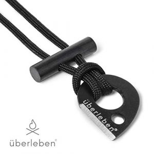 berleben  1 berleben Leicht Fire Starter Necklace | Ultralight Fire Steel | Micro Ferro Rod Toggle | 12