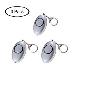 Guard Survival Alarm 1 Guard 3 Pack 120dB Personal Alarm with LED Flashlight,Self Defense Keychain,Loudest Emergency Survival Whistle for Jogger/Women/Kids/Elderly/Night worker/Attack/Rape, Bag Decoration,Perfect Gift, Grey