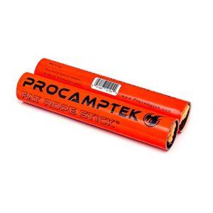 Procamptek Survival Fire Starter 1 Fat Rope Stick - Gen 4 - Weatherproof Fire Starting Tinder - 2pk