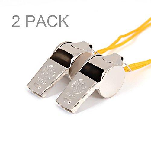 partstock  1 Partstock(TM) Metal Loud Whistle - With Lanyards