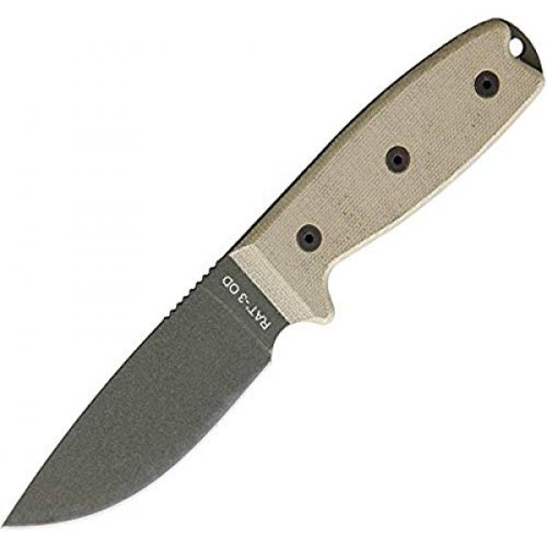 Ontario Knife Company Fixed Blade Survival Knife 1 Ontario Rat-3 OD Green