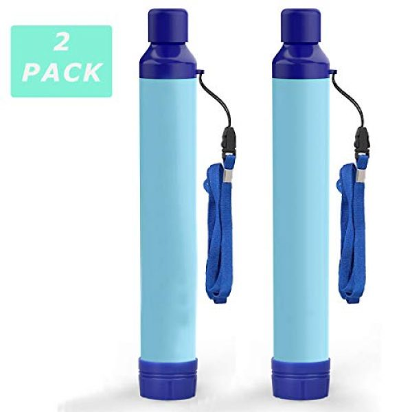 Kerrogee Survival Water Filter 1 Kerrogee Portable Water Filter Straw,396 Gallon Filtration Capacity,0.01 Micron Filtration Accuracy Survival Water Filter,Easy Carry for Camping,Backpacking