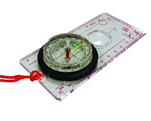 UST  1 UST Deluxe Map Compass with Raised Base Plate and Swivel Bezel for Hiking