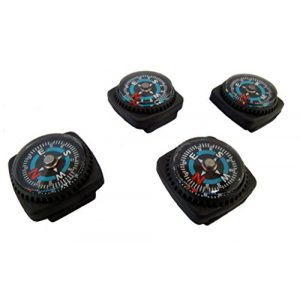 Type-III Products Survival Compass 1 Type-III 4pc Liquid Filled Slip-on Compass Set for Watchband or Paracord Bracelets (2nd Gen)
