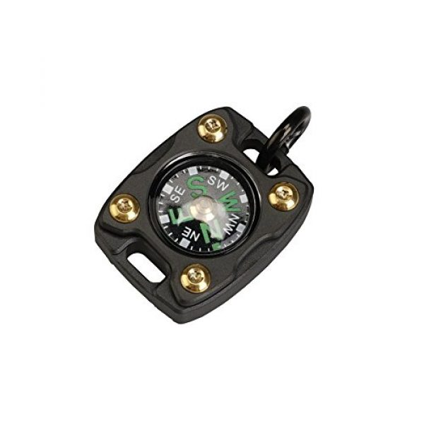 MecArmy Survival Compass 1 MecArmy CMP2, High Sensitivity EDC Compass, with Glow in The Dark and Beaded Chain You can Carry as a Pendant