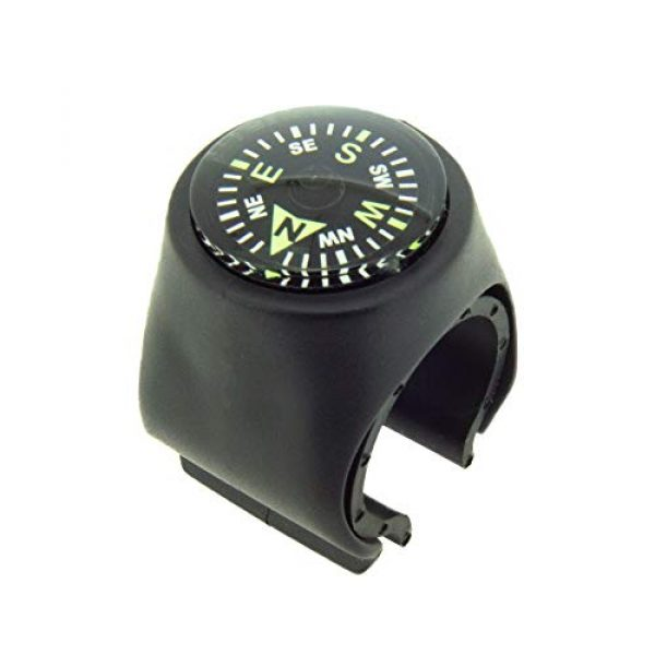 Sun Company Survival Compass 1 Sun Company Clip-On Compass for Bikes | Handlebar Compass for Bicycle, Motorcycle, ATV, or Snowmobile