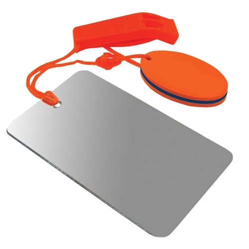 UST  1 UST Find-Me Signal Mirror & Hear-Me Floating Whistle Combo with Three Wilderness Essentials in One