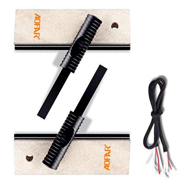 AOFAR Survival Fire Starter 1 AOFAR AF-374 Magnesium Fire Starter (2-Pack) Waterproof Fire Steel Pouch for Camping, Hiking, Hunting, Backpacking,Outdoor Survival fire Striker kit