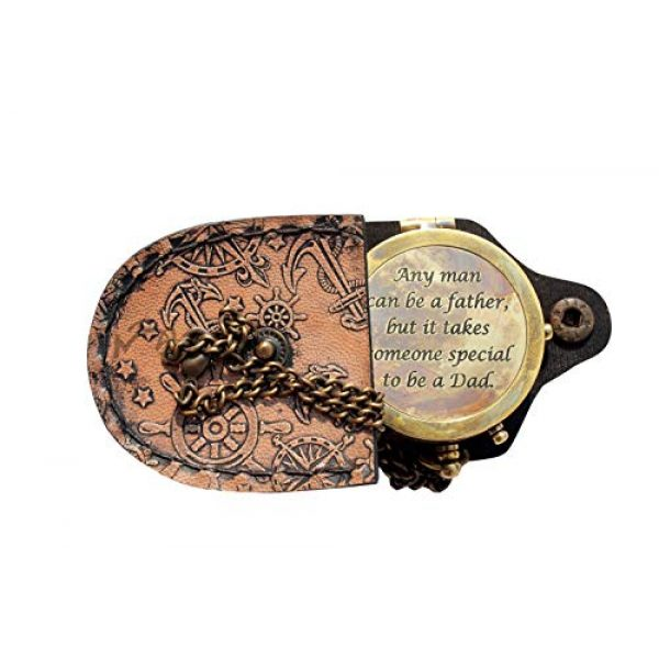 MAH Survival Compass 1 MAH Any Man Can be a Father , Camping Compass Engraved with Gift Compass C-3128