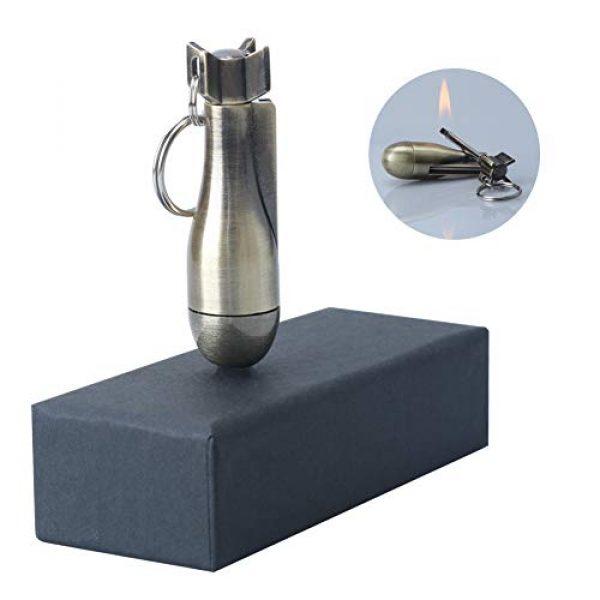 XIFEI Survival Fire Starter 1 XIFEI Fire Starter, Flint Match Lighter Keychain Outdoor Camping Emergency Survival Gear, Temporary Lighter