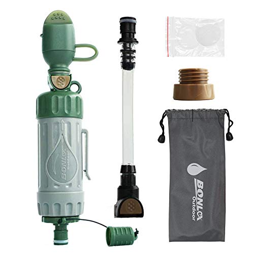 Walmeck  1 Walmeck Multiple Fuction Water Purifier Portable Water Filter Straw Drinking Water Filtration Purifier for Outdoor Survival Emergency Preparedness