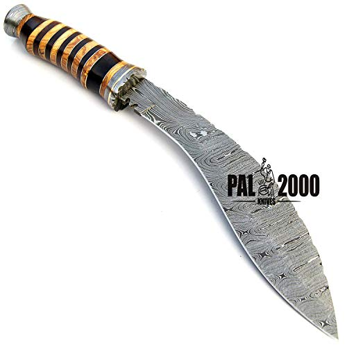 PAL 2000 KNIVES  5 SGNT-9372 Custom Handmade Damascus Steel Blade Hunting Bowie Knife -Sword/Chef Kitchen Knife/Dagger/Full Tang/Axe/Billet/Cleaver/Bar/Folding Knife/Knives Accessories/Survival/Camping with Sheath