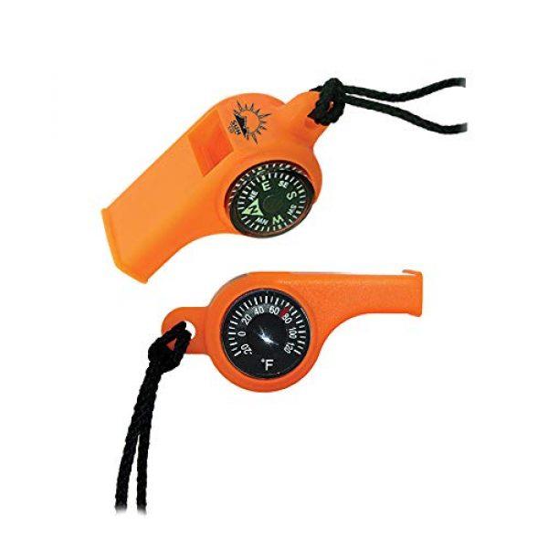Sun Company Survival Compass 1 Sun Company TripleWhistle - 3-in-1 Survival Whistle | Compass, Dial Thermometer, Whistle Combo