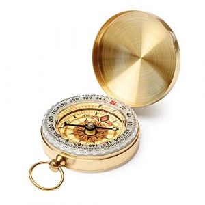 Qi Mei  1 Qi Mei Camping Survival Compass Metal Pocket Compass Kids Compass for Hiking Camping Hunting Outdoor Military Navigation Tool