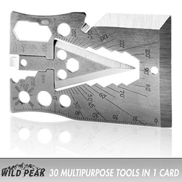 Wild Peak Survival Kit 6 Wild Peak Prepare-1 Survival Tool Kit with Axe Multi-Tool Card and a Thin Multi-Tool Card for Camping Gear, Hiking, Climbing, Fishing and Hunting