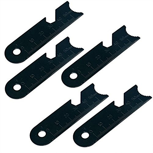 Three oaks  1 Three oaks 5pcs Striker Scraper Set for Ferro Rod use Made of Carbon Steel