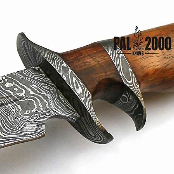 PAL 2000 KNIVES Fixed Blade Survival Knife 3 Sub Hilt Custom Handmade Damascus Steel Hunting Bowie Knife -Sword/Chef Kitchen Knife/Dagger/Full Tang/Skinner/Axe/Billet/Folding Knife/Kukri/knives accessories/survival/Camping With Sheath 9155