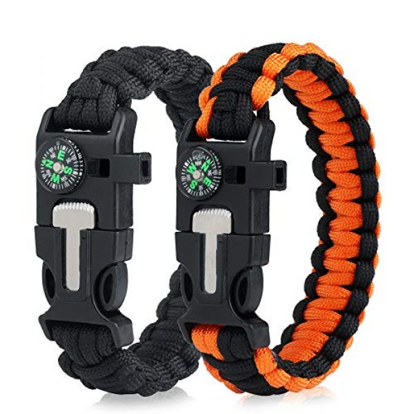 WEREWOLVES Survival Paracord Bracelet 1 WEREWOLVES Survival Paracord Bracelets,Professional Personal EDC Tactical Bracelet,Multifunction Camping Hiking Gear with Compass, Fire Starter, Whistle and Emergency Knife
