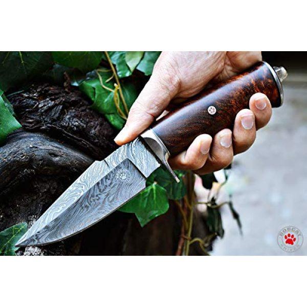 Bobcat Knives Fixed Blade Survival Knife 1 Bobcat Knives Custom Handmade Hunting EDC Knife Damascus Steel 10'' Overall with Sheath