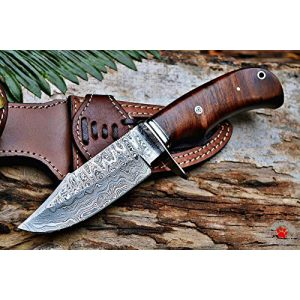 Bobcat Knives Fixed Blade Survival Knife 1 Bobcat Knives Custom Handmade Hunting Knife Bear Hunter Damascus Steel Overall 10''