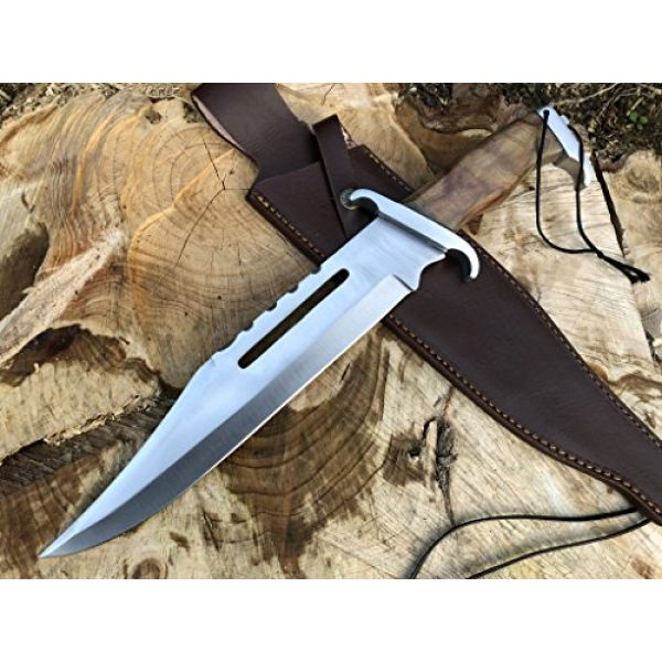 Perkin Fixed Blade Survival Knife 5 Perkin | 16 Inches Fixed Blade Hunting Knife | Bowie Knife | Leather Sheath