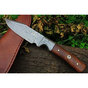 """DKC Knives Fixed Blade Survival Knife 1 (7 9/18) DKC-516 Hunter Damascus Bowie Hunting Handmade Knife Fixed Blade 7.9 oz 9"""""""