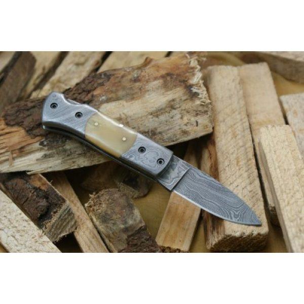 Knife King Fixed Blade Survival Knife 1 Knife King Custom Damascus Handmade Folding Knife. with Leather Sheath