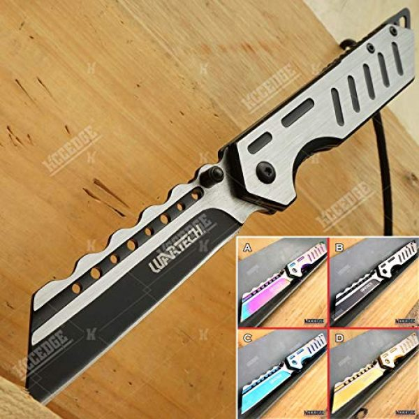 KCCEDGE BEST CUTLERY SOURCE Folding Survival Knife 1 KCCEDGE BEST CUTLERY SOURCE Pocket Knife Camping Accessories Survival Kit Razor Sharp Modern Two Tone EDC Tactical Knife Hunting Knife Camping Gear Folding Knife 56126