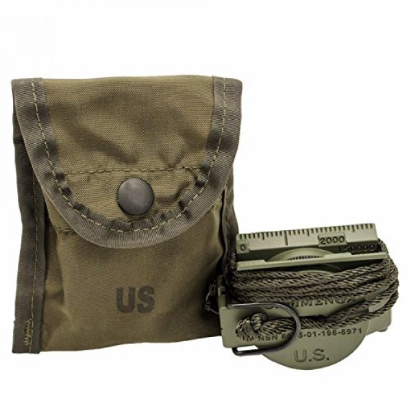 Cammenga Survival Compass 1 Cammenga Official US Military Tritium Lensatic Compass, Olive Drab Accurate Waterproof Hand Held Compasses with Pouch for Hiking Camping Navigation Survival Backpacking Orienteering