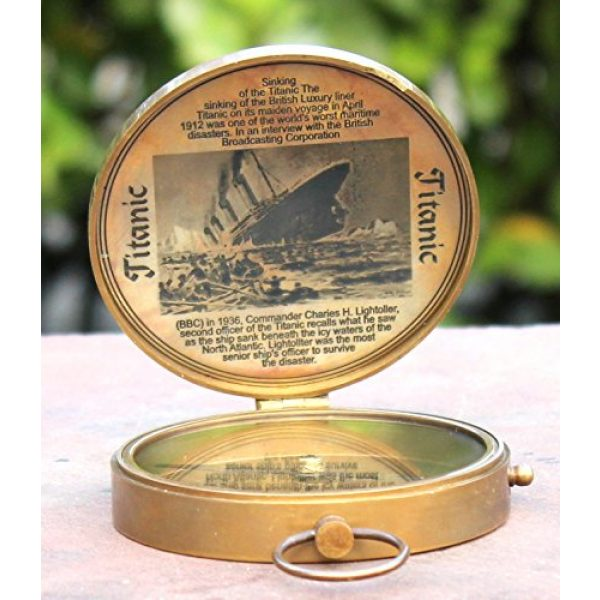 collectiblesBuy Survival Compass 1 Collectibles Buy Antique Lid Titanic Compass Brass Finish Vintage Nautical Sailor Article - Maritime Magnetic Gift