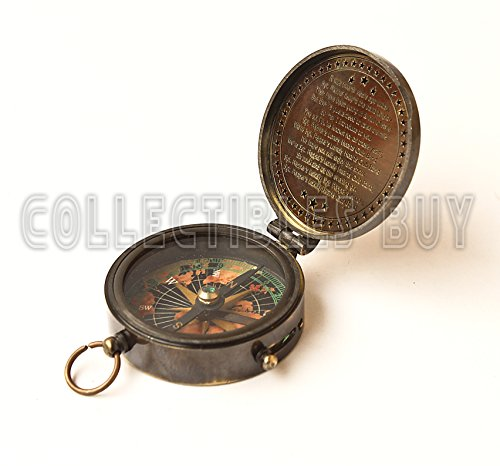 collectiblesBuy  1 collectiblesBuy Antique Vintage Compass Pocket Brass Authentic Sailor