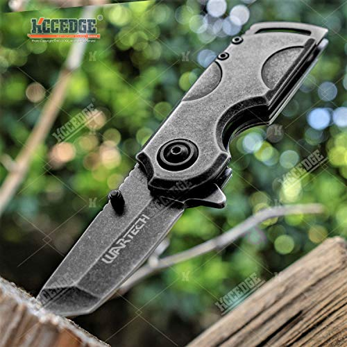 KCCEDGE BEST CUTLERY SOURCE  1 KCCEDGE BEST CUTLERY SOURCE Pocket Knife Camping Accessories Survival Kit 5 1/4 Inch Razor Sharp Tactical Knife Hunting Knife Camping Gear 78364