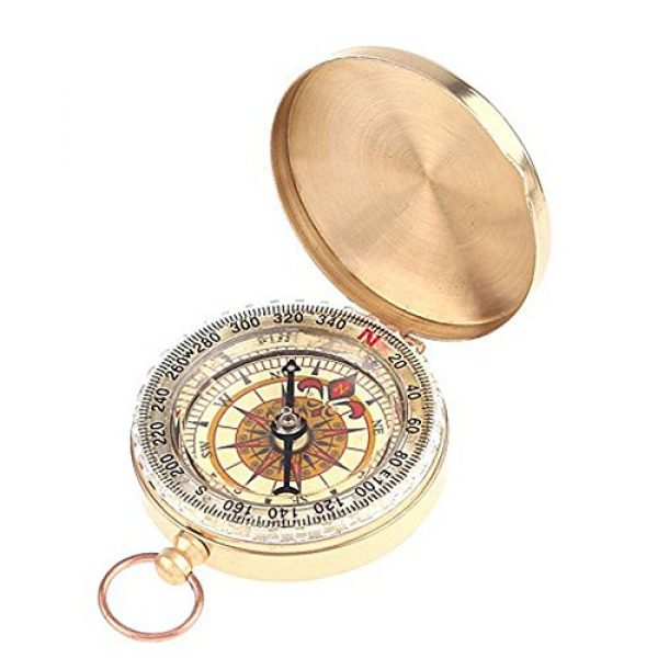 BlueSnail Survival Compass 1 PPbean Classic Pocket Style Camping Compass