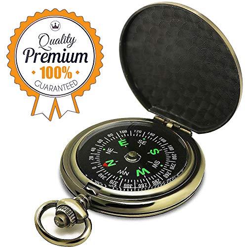 ydfagak  1 ydfagak Compass Premium Portable Pocket Watch Flip-Open Compass Camping Hiking Compass Outdoor Navigation Tools
