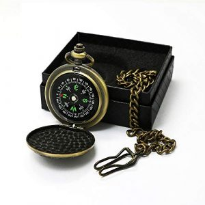 Sanung Survival Compass 1 Sanung Portable Outdoor Compass with Alloy Shell, Pocket Watch Gifts, Precise Direction Guide for Hiking, Camping, Adventure