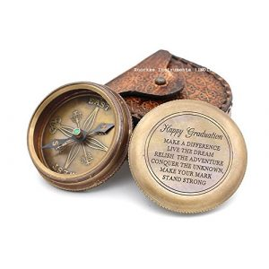 Roorkee Instruments India Survival Compass 1 Roorkee Instruments India Happy Graduation Quote Solid Brass Compass W/Leather Case