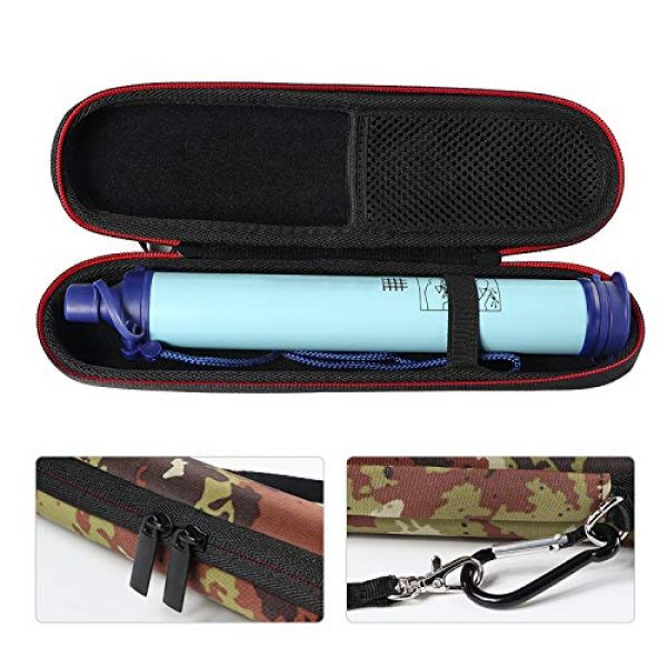 Techway Survival Water Filter 1 Techway Carry Travel Case Cover for LifeStraw and LifeStraw Steel Personal Water Filter with Hand Strap and Carabiner Clip Sewage Purification Storage Bag(Case Only)