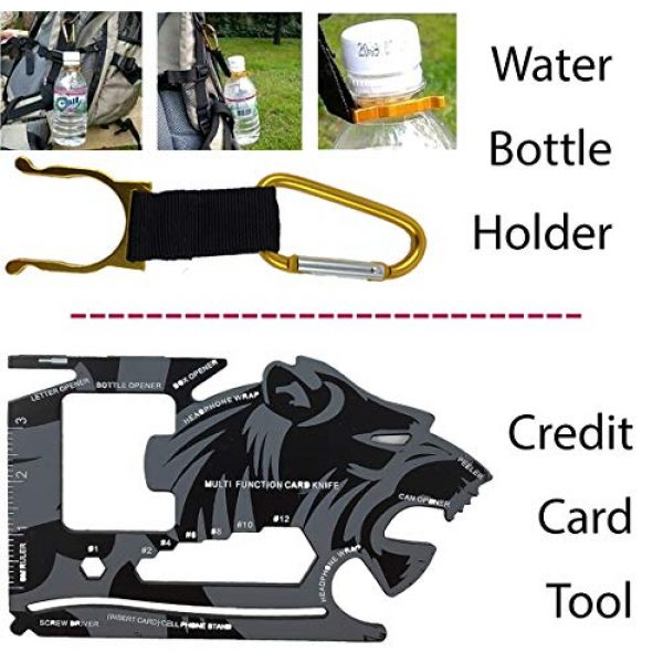"""A+ Alertoa Survival Kit 6 A+ Alertoa 30+""""Items in 1 Survival kit/Emergency Gears + First Aid kit; Include All Essential & Tools for Camping Biking Hunting Outdoor Birthday Gift - Men Women Boys Girls Need This Cool kit"""