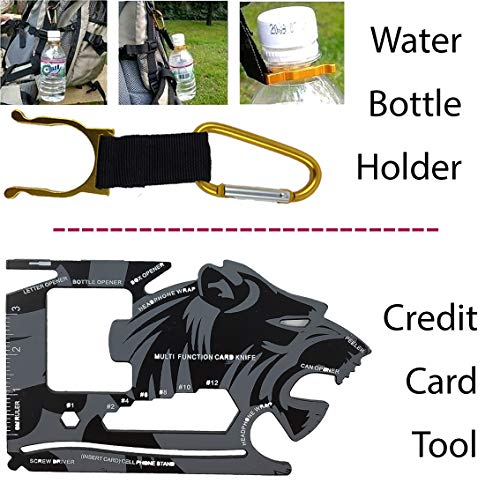 """A+ Alertoa  6 A+ Alertoa 30+""""Items in 1 Survival kit/Emergency Gears + First Aid kit; Include All Essential & Tools for Camping Biking Hunting Outdoor Birthday Gift - Men Women Boys Girls Need This Cool kit"""